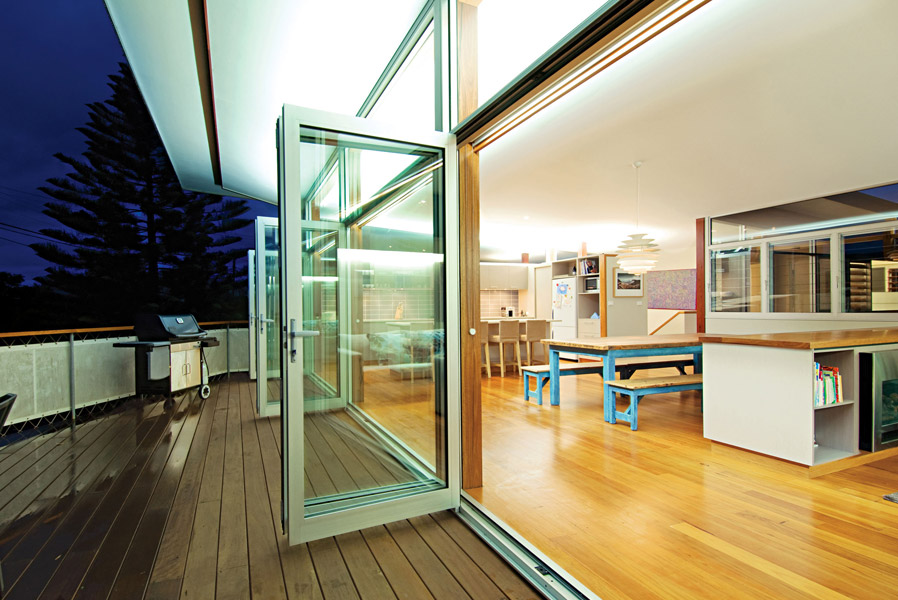 Series 410 FoldMASTER™ Bi-Fold Door (bottom rolling)